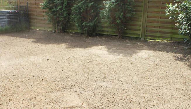 Gartenbau, Rasen wurde abgetragen