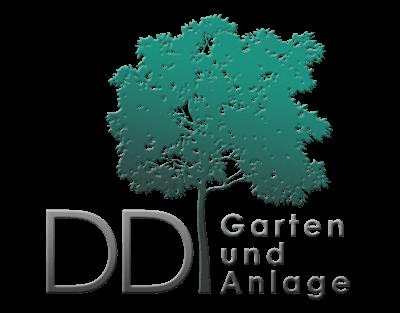 Firmenlogo DD Garten, Baum + Schriftzug